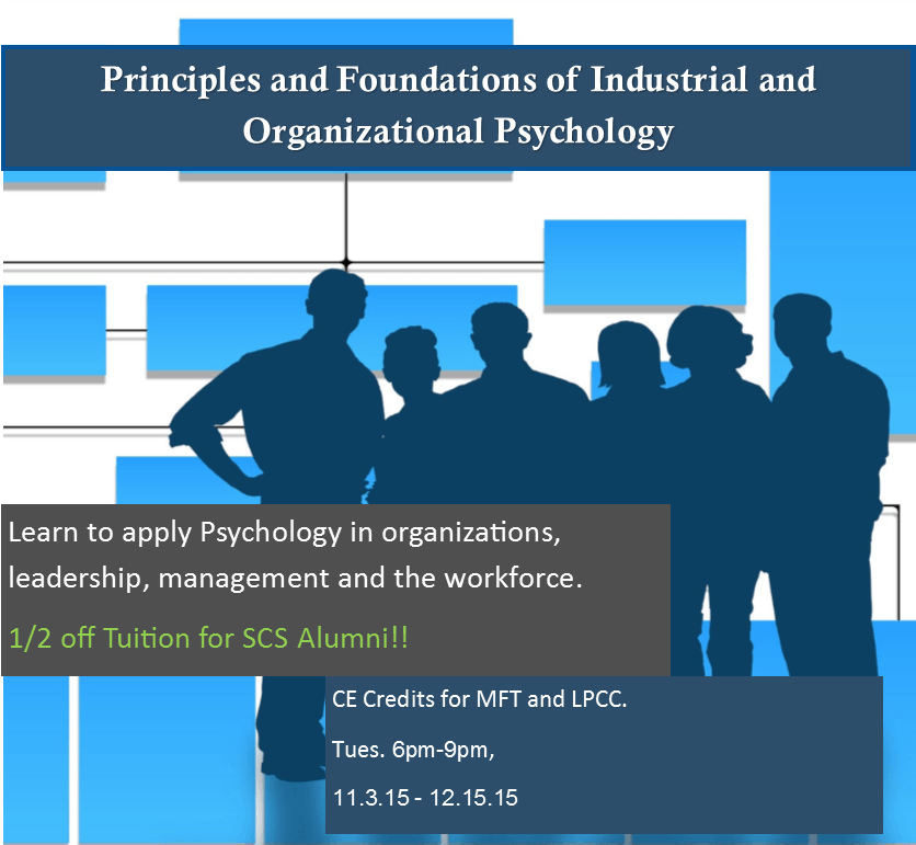 Organizational Psychology univ courses
