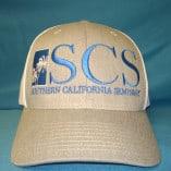 gray mesh hat