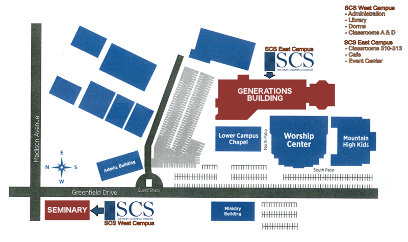 SCS El Cajon Campus Map