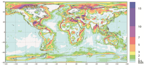 Global map of sediment thickness